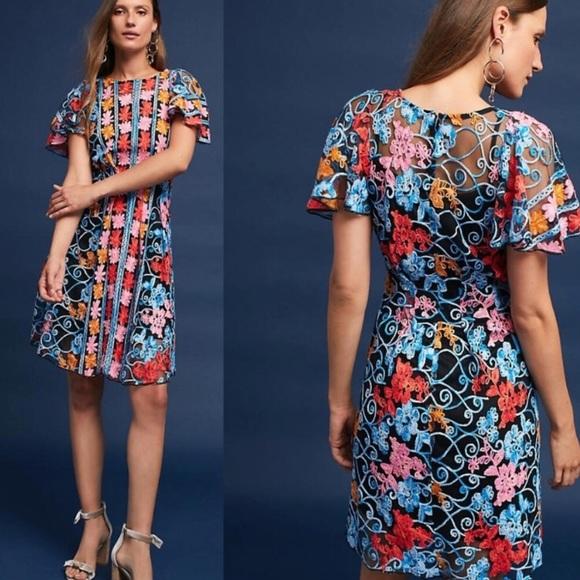 11a0da99548 Anthropologie Eva Franco Ferrah Embroidered Dress